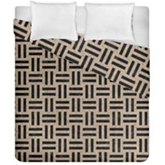 Woven1 Black Marble & Sand Duvet Cover Double Side (california King Size) by trendistuff