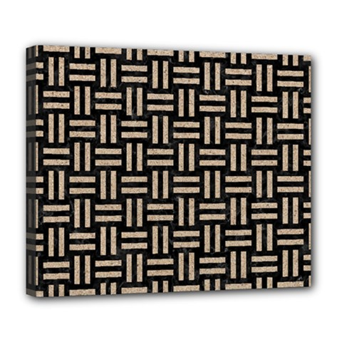 Woven1 Black Marble & Sand (r) Deluxe Canvas 24  X 20   by trendistuff