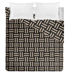 Woven1 Black Marble & Sand (r) Duvet Cover Double Side (queen Size) by trendistuff