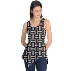 Woven1 Black Marble & Sand (r) Sleeveless Tunic by trendistuff