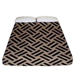 Woven2 Black Marble & Sand Fitted Sheet (queen Size)