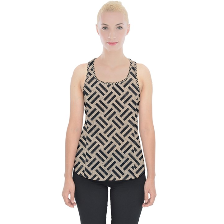WOVEN2 BLACK MARBLE & SAND Piece Up Tank Top
