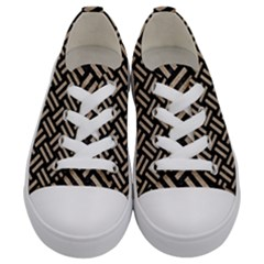 Woven2 Black Marble & Sand (r) Kids  Low Top Canvas Sneakers