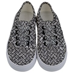 Brick2 Black Marble & Silver Foil Kids  Classic Low Top Sneakers