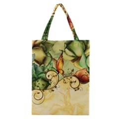 Wonderful Flowers With Butterflies, Colorful Design Classic Tote Bag by FantasyWorld7