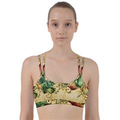 Wonderful Flowers With Butterflies, Colorful Design Line Them Up Sports Bra by FantasyWorld7