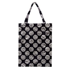 Circles2 Black Marble & Silver Foil (r) Classic Tote Bag by trendistuff