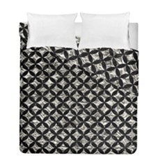 Circles3 Black Marble & Silver Foil Duvet Cover Double Side (full/ Double Size)