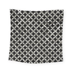 Circles3 Black Marble & Silver Foil (r) Square Tapestry (small) by trendistuff