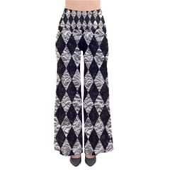 Diamond1 Black Marble & Silver Foil Pants by trendistuff
