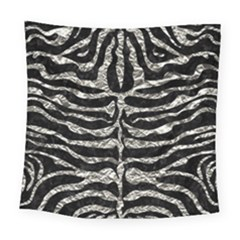 Skin2 Black Marble & Silver Foil (r) Square Tapestry (large) by trendistuff