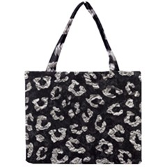 Skin5 Black Marble & Silver Foil Mini Tote Bag by trendistuff