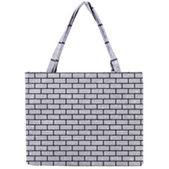 Brick1 Black Marble & Silver Glitter Mini Tote Bag by trendistuff