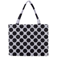 Circles2 Black Marble & Silver Glitter Mini Tote Bag by trendistuff
