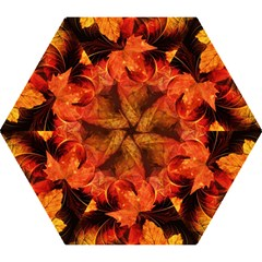 Ablaze With Beautiful Fractal Fall Colors Mini Folding Umbrellas by jayaprime