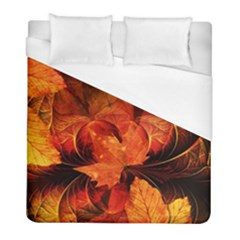 Ablaze With Beautiful Fractal Fall Colors Duvet Cover (full/ Double Size) by jayaprime