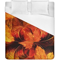 Ablaze With Beautiful Fractal Fall Colors Duvet Cover (california King Size) by jayaprime