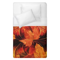 Ablaze With Beautiful Fractal Fall Colors Duvet Cover (single Size) by jayaprime