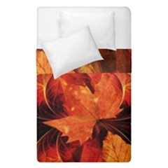 Ablaze With Beautiful Fractal Fall Colors Duvet Cover Double Side (single Size) by jayaprime