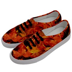 Ablaze With Beautiful Fractal Fall Colors Men s Classic Low Top Sneakers by jayaprime
