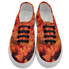 Ablaze With Beautiful Fractal Fall Colors Women s Classic Low Top Sneakers