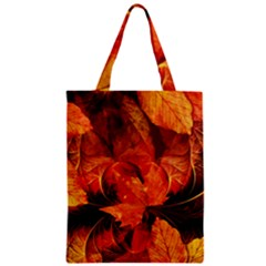 Ablaze With Beautiful Fractal Fall Colors Zipper Classic Tote Bag by jayaprime