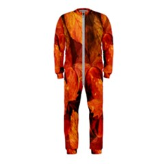 Ablaze With Beautiful Fractal Fall Colors Onepiece Jumpsuit (kids) by jayaprime