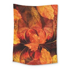 Ablaze With Beautiful Fractal Fall Colors Medium Tapestry by jayaprime