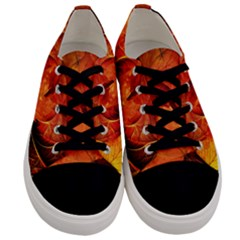 Ablaze With Beautiful Fractal Fall Colors Men s Low Top Canvas Sneakers