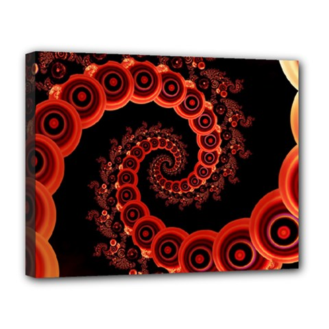 Chinese Lantern Festival For A Red Fractal Octopus Canvas 14  X 11  by jayaprime