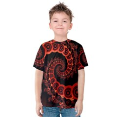Chinese Lantern Festival For A Red Fractal Octopus Kids  Cotton Tee by jayaprime