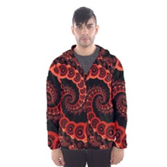 Chinese Lantern Festival For A Red Fractal Octopus Hooded Wind Breaker (men) by jayaprime