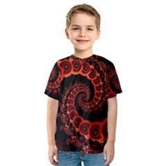 Chinese Lantern Festival For A Red Fractal Octopus Kids  Sport Mesh Tee by jayaprime