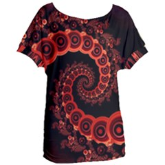 Chinese Lantern Festival For A Red Fractal Octopus Women s Oversized Tee by jayaprime