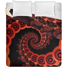 Chinese Lantern Festival For A Red Fractal Octopus Duvet Cover Double Side (california King Size) by jayaprime