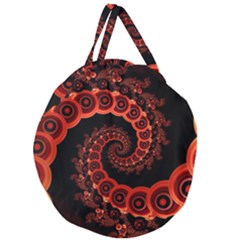 Chinese Lantern Festival For A Red Fractal Octopus Giant Round Zipper Tote by jayaprime