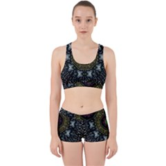 Leaf Earth And Heart Butterflies In The Universe Work It Out Sports Bra Set by pepitasart