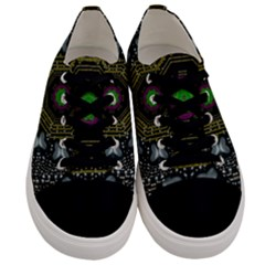 Leaf Earth And Heart Butterflies In The Universe Men s Low Top Canvas Sneakers