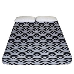 Scales2 Black Marble & Silver Glitter Fitted Sheet (king Size) by trendistuff