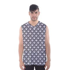 Scales2 Black Marble & Silver Glitter Men s Basketball Tank Top