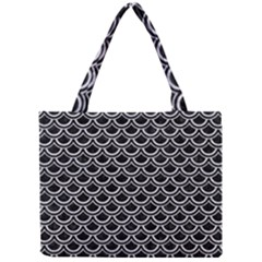 Scales2 Black Marble & Silver Glitter (r) Mini Tote Bag by trendistuff