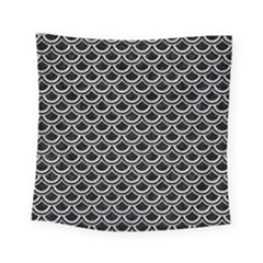Scales2 Black Marble & Silver Glitter (r) Square Tapestry (small) by trendistuff