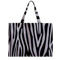 Skin4 Black Marble & Silver Glitter Zipper Mini Tote Bag by trendistuff