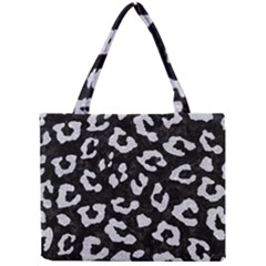 Skin5 Black Marble & Silver Glitter Mini Tote Bag by trendistuff