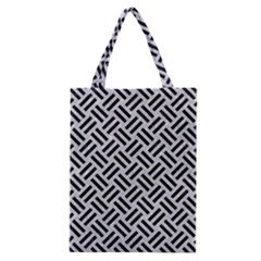 Woven2 Black Marble & Silver Glitter Classic Tote Bag by trendistuff