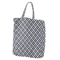 Woven2 Black Marble & Silver Glitter Giant Grocery Zipper Tote by trendistuff