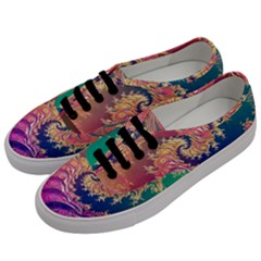 Rainbow Octopus Tentacles In A Fractal Spiral Women s Classic Low Top Sneakers by jayaprime