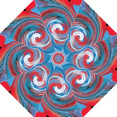 Red And Blue Rounds Folding Umbrellas by berwies