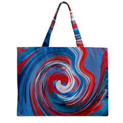 Red And Blue Rounds Zipper Mini Tote Bag by berwies