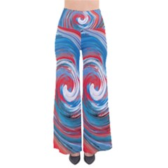 Red And Blue Rounds Pants by berwies